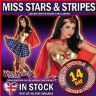 FANCY DRESS COSTUME # MISS STARS & STRIPES EXTRA SMALL XS 6-8